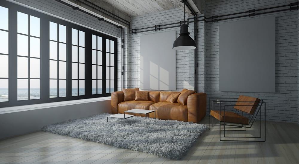 decoracao-industrial-sala-minimalista-loft