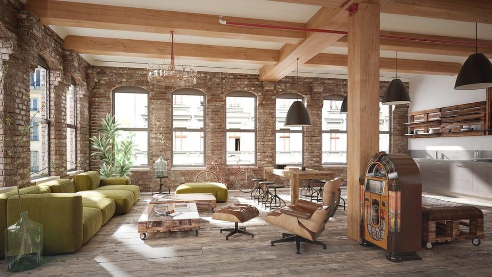 salas-decoradas-tijolo-aparente-loft
